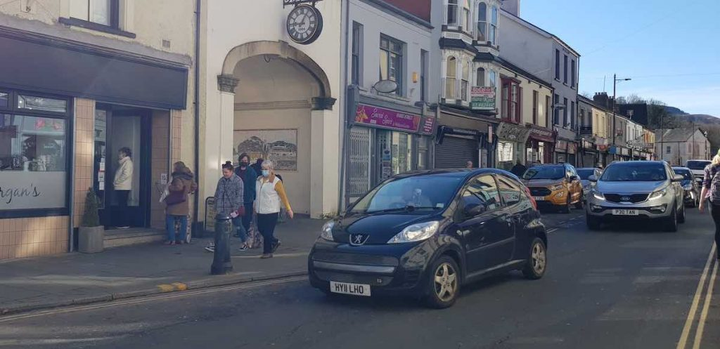 Our Aberdare business improvement district BID footfall customers projects TRAFFIC ISSUES NO PARKING DOUBLE YELLOW LINES ACCESS DISABILITY ISSUES