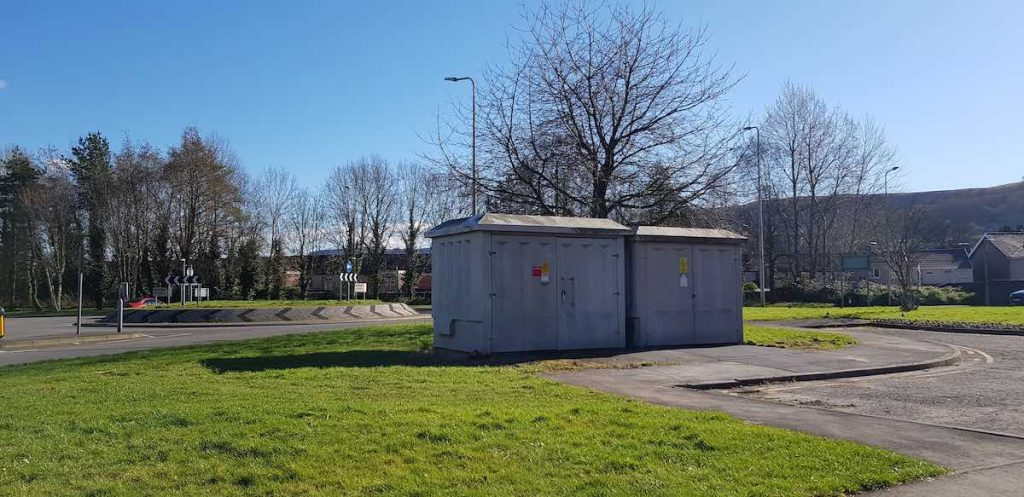 Our Aberdare business improvement district BID footfall customers projects ENTERPRISE BUILDING TESCO FLOWERS ROUNDABOUT