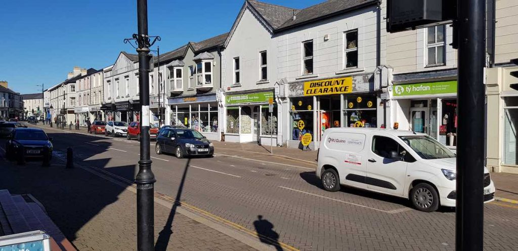 Our Aberdare business improvement district BID footfall customers projects CARDIFF STREET SHOP FRONT IMPROVEMENTS PARKING
