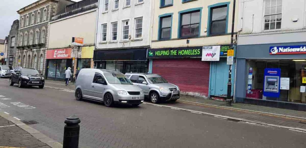 Our Aberdare business improvement district BID footfall customers projects CARDIFF STREET SHOP FRONT IMPROVEMENTS EMPTY UNITS VINYLS