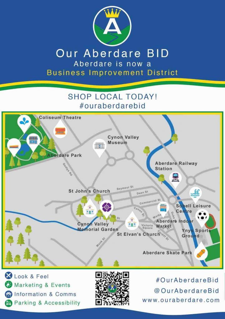 our-aberdare-business-improvement-district-bid-footfall-shop-local-kerb-appeal-park-road-races-map-zip-world-waterfall-country-brecon-beacons-museum-cylcing-walking